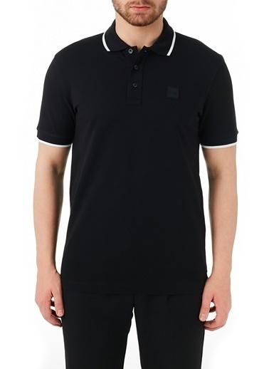 Hugo Boss  Pamuklu Düğmeli Polo T Shirt Erkek Polo 50451167 001 Siyah